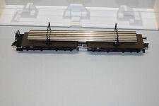 Fleischmann 5252 K Drehschemelwagenpaar mit Schienenprofilen Spur H0 OVP