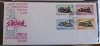 1973 NEW ZEALAND STEAM LOCOMOTIVES SET OF 4 STAMPS FDC FIRST DAY COVER #2