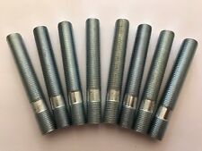 8 x M12X1.5 LEGA RUOTA BORCHIE Conversione Bulloni Lunghi 80 mm si adatta AUDI 57.1 4X100