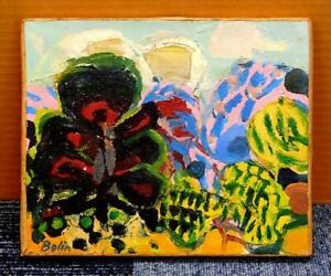 "GUSTAV BOLIN ""La pain noir"" ORIGINAL OIL PAINTING ON CANVAS SIGNED 1968"