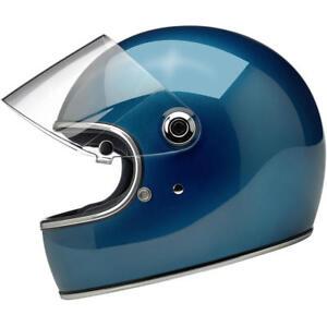 Biltwell Gringo S - DOT / ECE Motorcycle Helmet - Pacific Blue - Choose Size