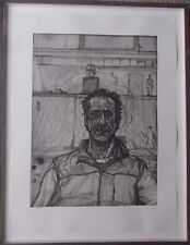SEAN HENRY B1965 ORIGINAL LARGE SIGNED SELF PORTRAIT RARE ETCHING EDITION OF 25