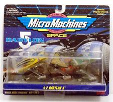 Babylon 5 Micro Machines Space coll #2 Vorlon Cruiser Raider Narn Transport 1994