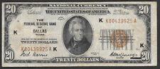 """""""KEY"""" NOTE  1929 $20 FRBN  ❀❀ DALLAS ❀❀"""