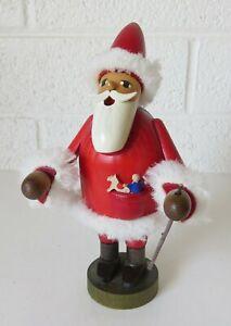 "Santa Incense Burner Erzgebirge Germany 8"""