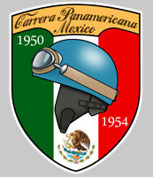 AUTOCOLLANT CARRERA PANAMERICANA MEXICO PANAMERICAINE RACING STICKER 10cm PB468