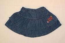Minirock in blau Jeansrock für die kleine Dame mit Raffungen TOP Next Größe 80