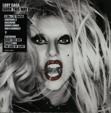 LADY GAGA BORN THIS WAY DELUXE  2 CD 3 BONUS 5 REMIXES