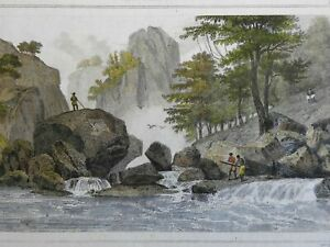 San Mathe River Luzon Philippines 1839 scenic view engraved print