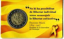 Novedad set en prueba moneda 2 euros Cataluña 2018 Catalonia Catalunya