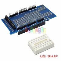 US SHIP Prototype Shield ProtoShield V3 + mini breadboard For Arduino Mega 2560
