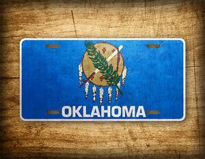 Oklahoma Flag License Plate OK State Official Flag Symbol Auto Tag 6x12 ~METAL~