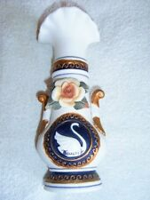 VINTAGE TENERIFE POTTERY SWAN VASE - SOUVENIR FROM CANARY ISLANDS