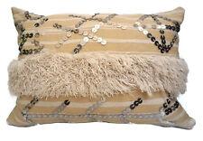 Moroccan Vintage Wedding Blanket Handira Berber Pillow Cushion Decorative