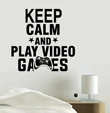 Keep Calm and Play Video Games Gaming Vinyl Sticker Decal - 3D Room Art