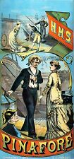 HMS Pinafore Stage Musical Theatrical Poster 1879 12x5 Inch Reprint