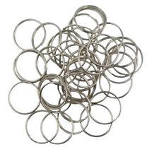100pcs KeyRing Kay Chain 25mm Double Loop Round Split Key Rings Silver