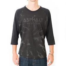 ASPHALT YACHT CLUB 3/4 Raglan BASEBALL SLEEVE Skater SKATE Board T-SHIRT Mens sz