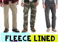 Men's Wrangler Authentics Fleece Lined Cargo Pant - Winter Warm