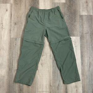 Columbia PFG Omni Shade Fishing Pants Convertible Outdoors Green Men's Size 30