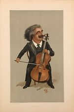 Original Vanity Fair Print 1897 'A Great Cellist' - Music