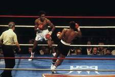 Old Boxing Photo Thomas Hearns Moves To Land A Punch Against Wilfredo Benitez