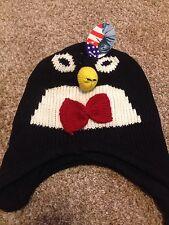 Toboggan Knit Hat Penguin Adults Kids Winter Girls Boys Womens Ladies Animal Cap