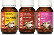 FUSION 1x HAIR TONIC 60c + 1x MULTIVITAMIN 60t  + 1x WOMEN'S BALANCE 60t +SAMPLE
