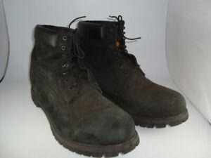 "Timberland Men's Size 18 Premium Waterproof Black 6"" Nubuck Boots 10073"