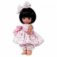 "Precious Moments 12"" Doll Bare Foot Blessings Brunette + Gift Box New"