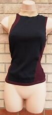 RIVER ISLAND BLACK BURGUNDY BEIGE BLOCK LONG NECK FORMAL BLOUSE TUNIC TOP 10 S