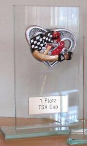 GoKart-Pokal (Glas) mit Wunschgravur (H)