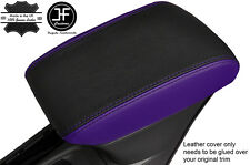 BLACK & PURPLE  LEATHER ARMREST COVER FITS VAUXHALL OPEL ASTRA K MK7 2016+
