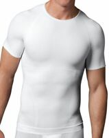 NEW, SPANX MEN'S WHITE ZONED PERFORMANCE CREW NECK UNDERSHIRT, XL, $105
