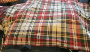 Pottery Barn Christmas Denver Plaid Pillow cover 16 X 26 New wo tag