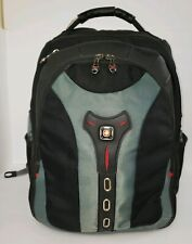 PEGASUS  SwissGear COMPUTER BACKPACK by Wenger BLK & GRN WITH ABSORBING SHOCK