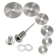 6Pcs HSS Rotary Circular Saw Blades Cutting Discs Wheel  Mandrel Tool For Dremel