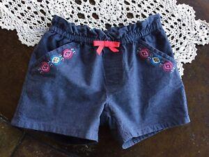 Gymboree Girls Blue Flowers Pull On Shorts Size 5