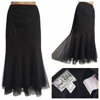Joseph Ribkoff Trends Black Tulle Midi Mermaid Skirt Size 12 UK Stunning