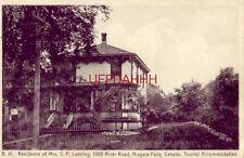 RESIDENCE OF MRS. C. P. LANNING, NIAGARA FALLS CANADA Tourist Accomodation