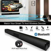 Bluetooth Wireless TV Soundbar 4 Speaker 3D Sound Bar Home Theater Subwoofer AUX