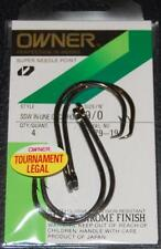 OWNER SSW IN-LINE CIRCLE HOOKS 5179-191 Size 9/0 - 4 pack Tournament Legal