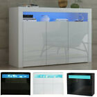 High Gloss Sideboard Buffet 2/3 Doors Cabinet Cupboard Storage TV Unit Stand LED