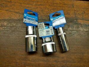 """Three Silverline Sockets 1/2"""" Drive 6 Point  27mm &18mm deep & 32mm"""
