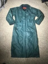 WOOLRICH Woman Long Trench COAT/JACKET Raincoat Wool Plaid Lined Small