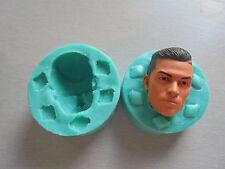 Silicone Mould 3D RONALDO HEAD Sugarcraft Cake Decorating Fondant / fimo mold