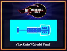 1975 Hot Wheels Redline RED 'Warpath' Replica Decal SCR-0529