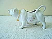 """Vintage White Cow Floral Themed Creamer """" BEAUTIFUL COLLECTIBLE ITEM """""""