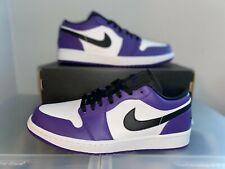 Brand New Nike Air Jordan 1 Low Court Purple White 553558-500