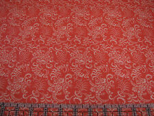3 Yards Quilt Cotton Fabric - Fabric Traditions Floral Leaf Filigree Orange